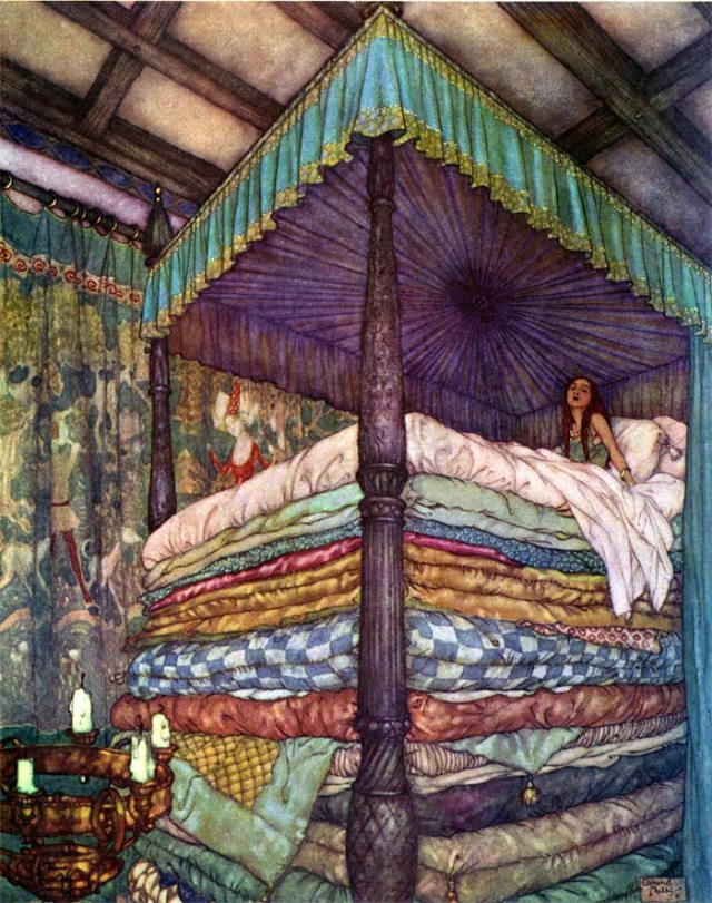 The Princess & The Pea by Edmund Dulac